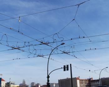 Straßenbahn Oberleitungen